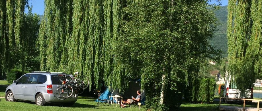 Emplacement cycliste, camping Seyssel